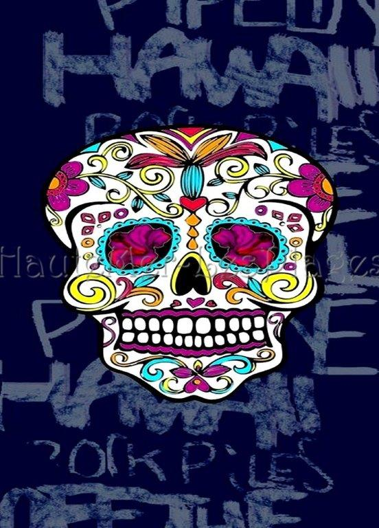 serviette de plage calavera cr ne mexicain t te de mort. Black Bedroom Furniture Sets. Home Design Ideas