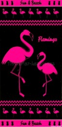 serviette de plage flamand rose