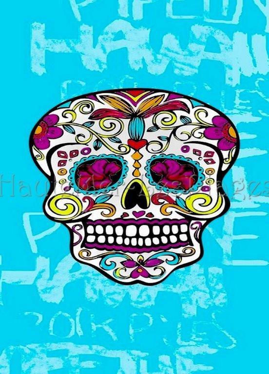 Serviette Plage Tete De Mort.Xl Crane Mexicain 773a